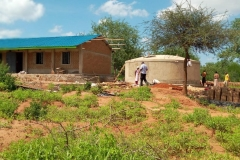 Kasarani-primary-school-tank-construction-complete-and-undergoing-curing